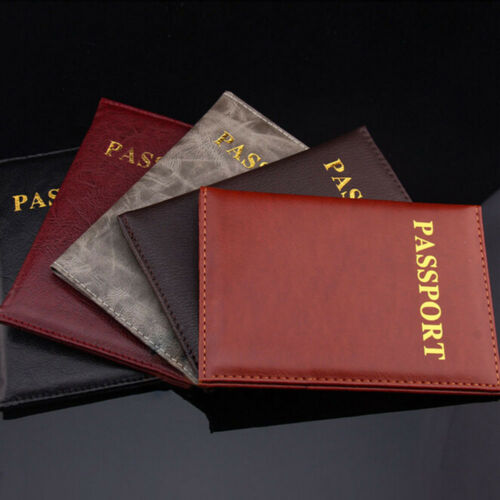 Travel Cover Waterproof Protector Men Case Holder Passport Cover PU Leather