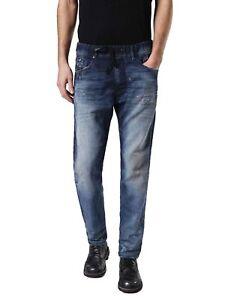 Diesel-Narrot-Ne-0682G-Felpa-Uomo-Jeans-Pantaloni-Slim-Carota