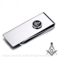 Pince À Billet Acier Inoxydable Chrome Money Clip Franc-maçonnerie Masonic Gift