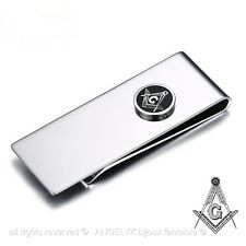 Pince à billet Acier Inoxydable Chrome Money Clip Franc-maçonnerie Masonic Gift