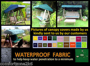 Image is loading MADE-TO-MEASURE-WATERPROOF-GARDEN-SWING-CANOPY-COVER-  sc 1 st  eBay & MADE TO MEASURE WATERPROOF GARDEN SWING CANOPY COVER - FLAT ROOF ...