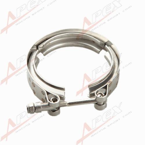 "2.25/"" Self Aligning Male//Female V-Band Vband Clamp Stainless Steel Flange Kit"
