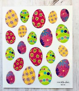 2-Sheets-Glitter-Easter-Eggs-Planner-Stickers-Papercraft-Envelope-Seals-Cards