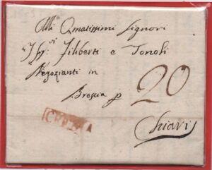 1809-Prefilatelica-da-Crema-a-Chiari-tassata-20-c
