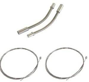 *2 X BARREL END BRAKE CABLES /& NEW V BRAKE FLEXI NOODLES//PIPES