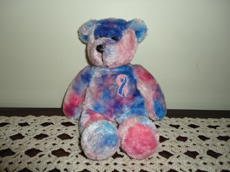 Plushland March of Dimes Pink & Blue Ribbon BEAR Handmade