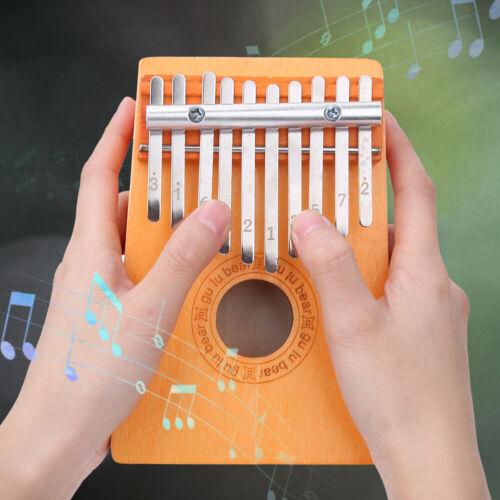 10 Tasten Kalimba Kiefernholz Fingertastatur Musik Spielzeug Kinder Daumenklavie