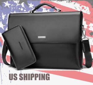 New-Business-Men-039-s-Leather-Handbag-Briefcase-Bag-Laptop-Shoulder-Bags