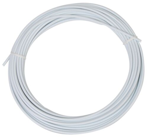 15.2M Brake 5Mm White Sunlite Lined Cable Housing Cables