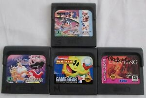Lot-of-4-Games-for-Sega-Game-Gear-Pacman-Ariel-Lion-King-Sonic-2-Not-Tested