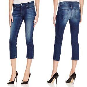 Hudson-NWOT-Womens-Skinny-Jeans-Sz-26-Dark-Canal-Blue-Wash-Stretch-Mid-Rise-Crop