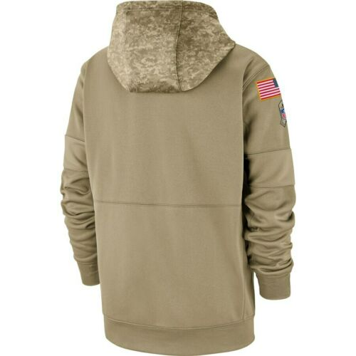 NFL Kansas City Chiefs Football Hoodie 2019 Salute to Service Sideline Pullover
