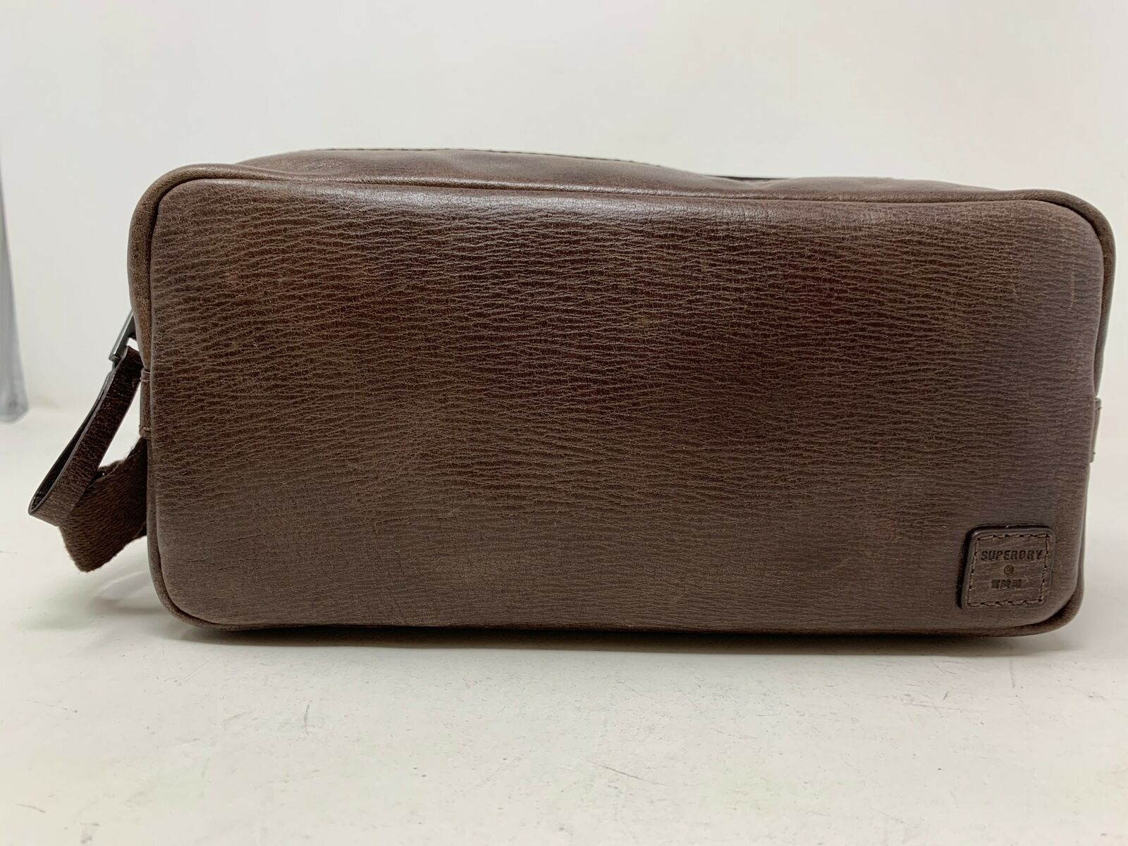 SUPERDRY Leather Bag Brown NEW