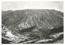 D0628 Il Monte Meate ad est del Grappa - Stampa antica del 1928 - Old Print