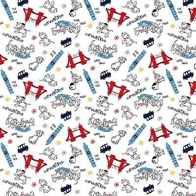 1 yard Disney Dalmation Adventures Fabric