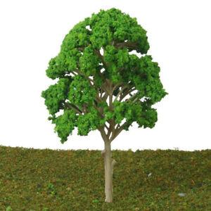 5x-15cm-Plastique-Vert-Modele-Arbres-Jouet-pour-Chemin-Park-Paysage-Decoration