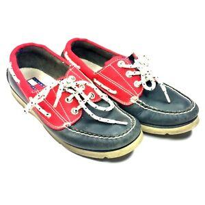 1ef2ba6240a7 Boy s Tommy Hilfiger Red   Blue Leather Loafer Shoes Sz 5M