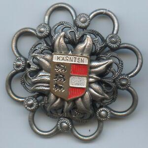 """Tolles Altes Abzeichen """"kärnten Wappen"""" Brosche Anstecker Top A1032 Thematisch Medaillen"""