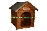 Casetas de madera para Perros - Pintela usted mismo y ahorre - Tejado a elegir