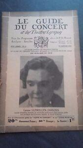 Revista Le Guía de La Concierto Y Las Sketches Letra 1931 N º 17 L. Jarecka