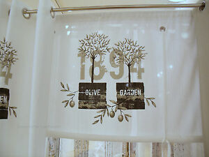 1894 raff gardine rollo wei 100 120 140 160 breit shabby chic vintage curtain ebay. Black Bedroom Furniture Sets. Home Design Ideas