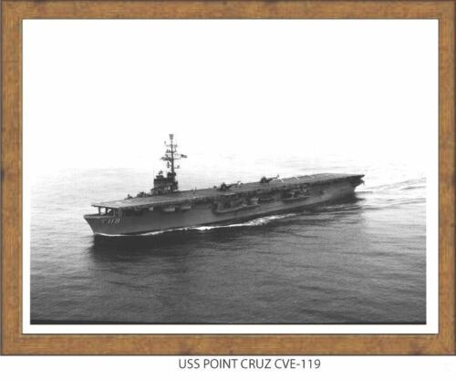 USN Navy USS Point Cruz CVE 119  Naval Ship Photo Print
