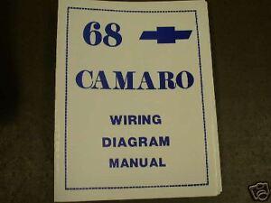 1968 Chevrolet Camaro Wiring Diagram Manual   eBay