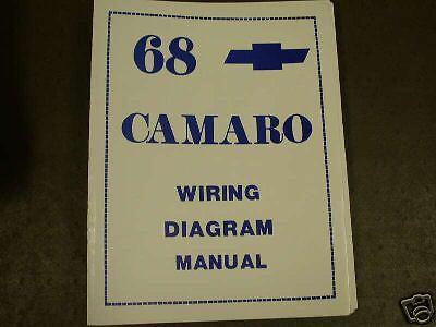 1968 Camaro Wiring Diagram Manual For Sale Online Ebay