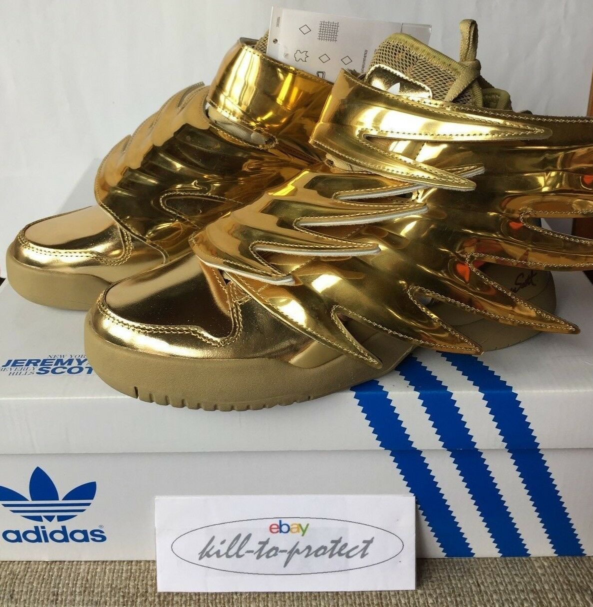 ADIDAS JEREMY SCOTT gold WINGS 3.0 Size US5.5 UK5 EU38 JS obyo B35651 2015