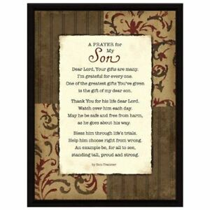 NEW-Dexsa-Prayer-My-Son-Wood-Frame-Plaque-with-Easel-DX8513