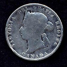 CANADA SILVER COIN, 25 CENT,1872h,VF,CV$40