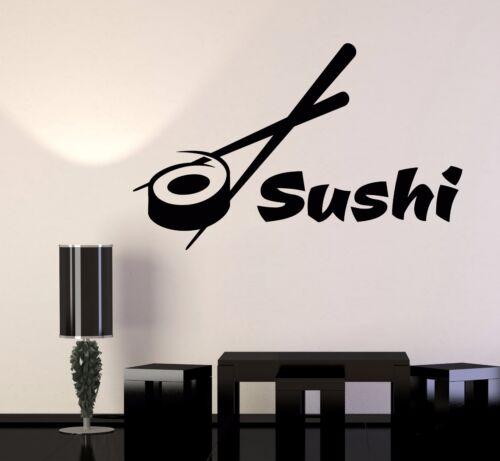 Vinyl Wall Decal Sushi Bar Restaurant Food Japanese Cuisine Stickers 1077ig