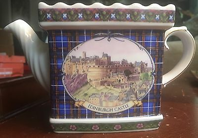 Rare James Sadler - Tour Of Britain Edinburgh Castle Collectors Teapot - No Lid