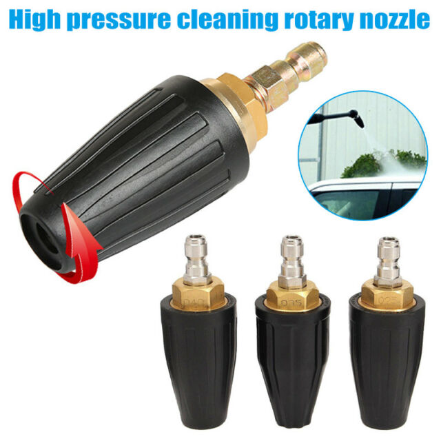 1 Pcs High Pressure Cleaner Washer Machine Rotating Turbo Nozzle 3600Psi 2.5 3.5