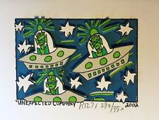 "James Rizzi: original 3D ""UNEXPECTED COMPANY"", handsigniert, vergriffen, 2002"