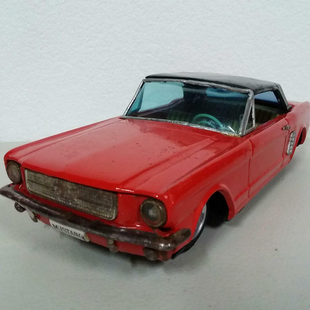 FORD MUSTANG TIN DIECAST TOY RED JAPAN RARE COLLECTIBLE MADE IN JAPAN CAR F S