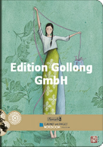 """Gaëlle Boissonard /""""Frau mit Geschenk/"""" Notizheft A5 Aquarupella Notizbuch Heft"""
