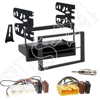Opel Astra J doble DIN autoradio radio diafragma negro ISO KFZ adaptador kit de integracion