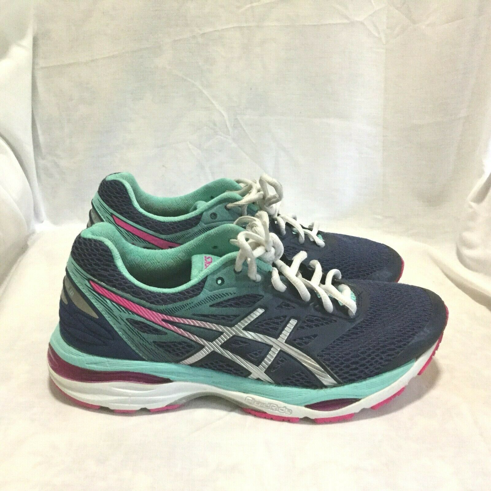 ASICS CUMULUS 18 RUNNING SHOES   MULTI COLOR ( SIZE 8.5 ) WOMEN'S