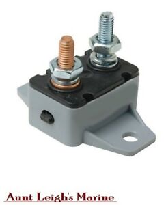 Marine 40 Amp Resettable Inline Circuit Breaker With Manual Reset Button 12v 24V