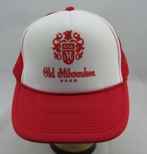 06c81e5051c Old Milwaukee Beer Trucker Hat Mesh Hat Snap Back Hat NEW Red White ...