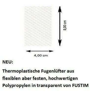 Wespenschutz Intelligent Fugenlüfter, Transparent 50 Stück Nagerschutz Stoßfugenlüfter