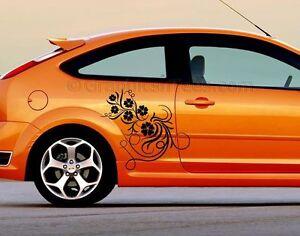 Focus Vinyl Graphic Decals  X Flower Car Stickers Custom Car - Custom car graphics