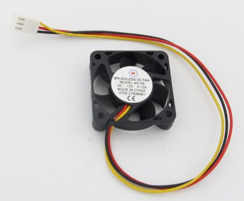 5 x Brushless DC Cooling Fan 40x40x10mm 40mm 4010 7 blades 12V 3pin Connector