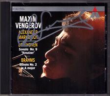 Maxim VENGEROV Signed BEETHOVEN Violin Sonata 9 BRAHMS 2 Alexander Markovich CD