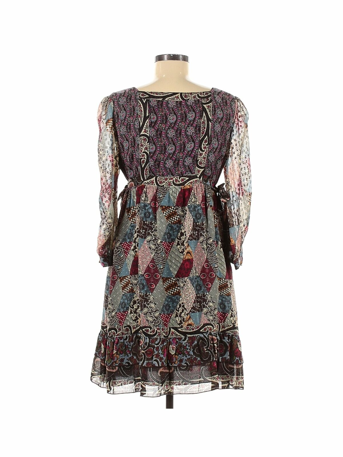 Anna Sui Women Brown Casual Dress 6 - image 2