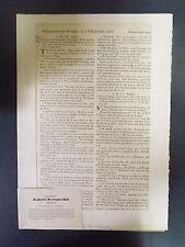 Leaf from a Baskerville Birmingham Bible - 1769 A.D.
