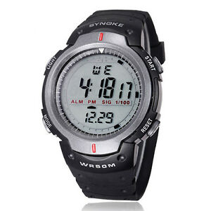 heiss-Herren-Wasserdicht-Digital-LED-Quarz-Alarm-Datum-Outdoor-Sport-Armbanduhr