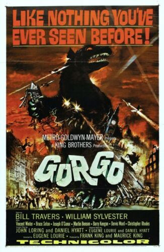 GORGO B-MOVIE REPRODUCTION ART PRINT A4 A3 A2 A1