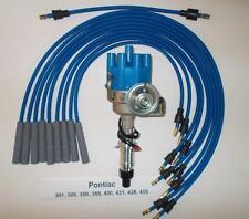 Pontiac 350 389 400 455 Blue Small Female Cap Hei Distributor Amp Spark Plug Wires